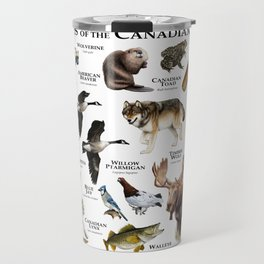 Animals of the Canadian Shield Travel Mug