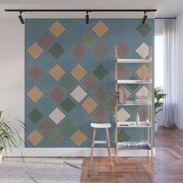 Blueprint Geometric Pattern 4 Wall Mural