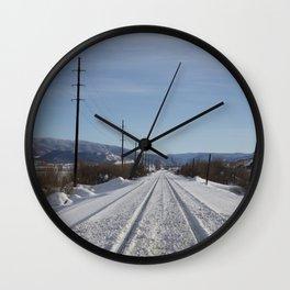 Carol M. Highsmith - Snow Covered Railroad Tracks Wall Clock