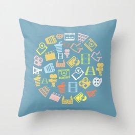 Cinema circle Throw Pillow