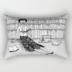 She just wanted to read books and do nothing else Rectangular Pillow