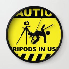 Tripod In Use Wall Clock