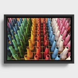 Rainbow Botellas Framed Canvas