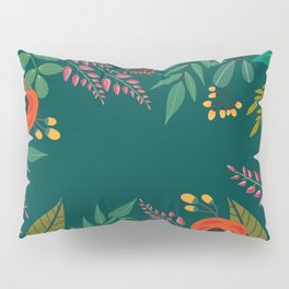 Spring now please! A Vintage green floral pillow Pillow Sham