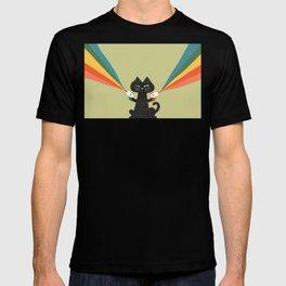 Ray gun cat T-shirt