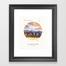 National Parks: Zion Framed Art Print