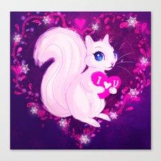 Squirrel Heart Canvas Print