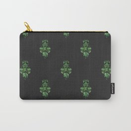Jewelbox: Emerald Brooch Repeat in Black Onyx Carry-All Pouch