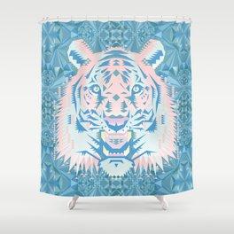 Pastel Quartz Tiger Shower Curtain