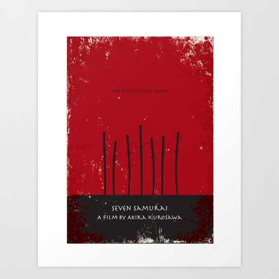 Seven Samurai Art Print