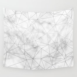 Marble Silver Geometric Texture Wall Tapestry