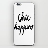 chic iPhone & iPod Skins featuring CHIC  by I Love Decor