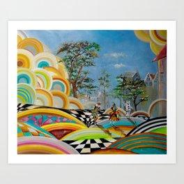 """Arlecchino, Colombina and Pierrot"" Art Print"