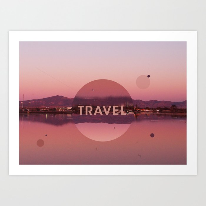 Travel landscape Art Print
