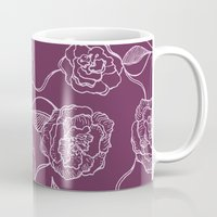 floral pattern Mugs featuring Floral Pattern by Vickn