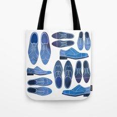 Blue Brogue Shoes Tote Bag