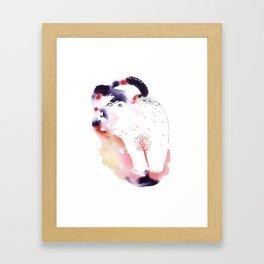 Polar Bear Love Print Framed Art Print