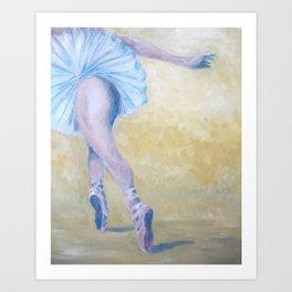 Inspired by Degas - Ballerina in Flight Art Print