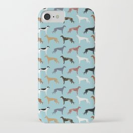 Greyhound Dog pet portrait dog lover must have gifts perfect christmas present for dog person iPhone Case