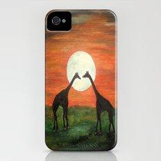 Full Moon Giraffe Love-Inspired by TaLins!!! Slim Case iPhone (4, 4s)