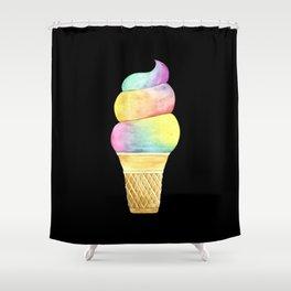 Rainbow Ice Cream Shower Curtain