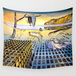 Salvador Dali The Disintegration of the Persistence of Memory 1954 Artwork for Wall Art, Prints, Posters, Tshirts, Men, Women, Kids Wall Tapestry