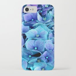 Purple Blue hydrangea iPhone Case