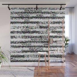 A Pointillist Arrangement of Black and White Wall Mural