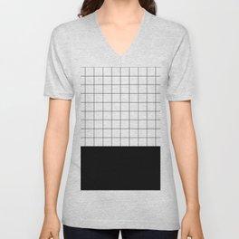 Scandi Grid Sq B Unisex V-Neck