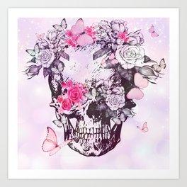 elegant skull Art Print