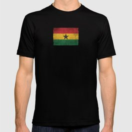 Old and Worn Distressed Vintage Flag of Ghana T-shirt