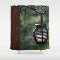 lantern Shower Curtains featuring Lantern by Lord Toby
