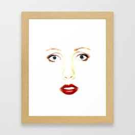 Kiss me! Framed Art Print