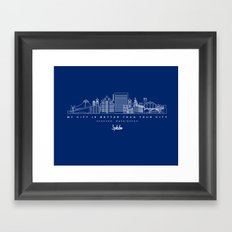 My City is Better Than Your City - Spokane, WA Framed Art Print