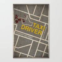 taxi driver Canvas Prints featuring Taxi Driver by Jacob Wise