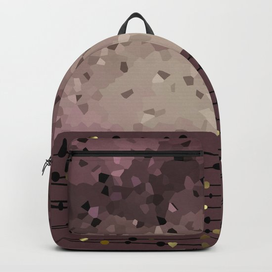 Pink brown combo pattern . Backpack