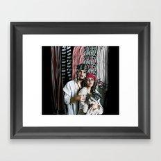 pirate portrait Framed Art Print