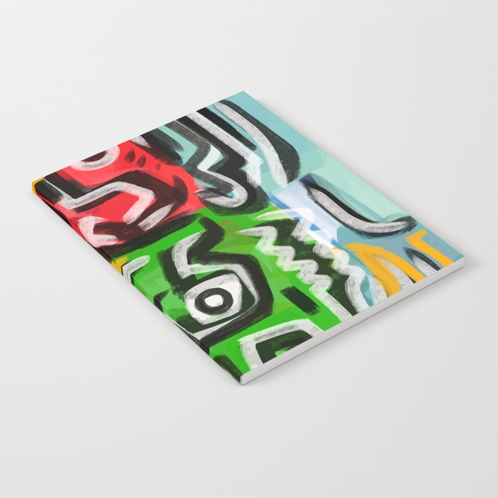 Primitive street art abstract Notebook