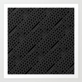 Keyboarded BLACK Art Print