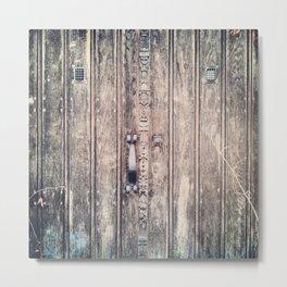 Rustic door.... Metal Print