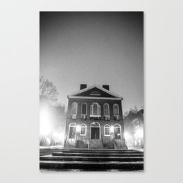 Old Town Hall-Night of Fog Canvas Print