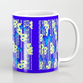 Blue Butterflies Cream-Blue Asia Style Modern Art Coffee Mug