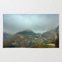 europe Area & Throw Rugs featuring Peaks of Europe by Svetlana Korneliuk
