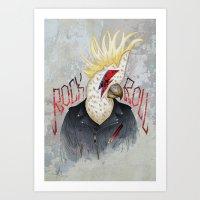 ROCK & ROLL BIRD!! Art Print