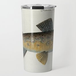 Vintage Illustration of a Brown Trout (1785) Travel Mug