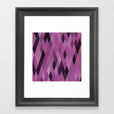Muted Berry Color Harlequin Pattern Framed Art Print