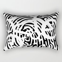 Biker's Fingerprint T-Shirt Rectangular Pillow
