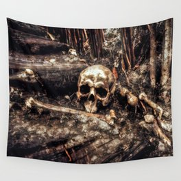 Bones In The Forest Wall Tapestry