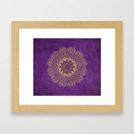 Golden Temptation on Light Purple Background Framed Art Print