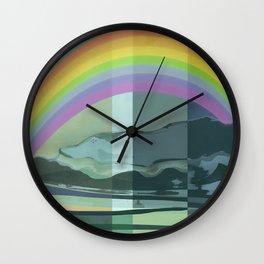 Hopeful Rainbow Wall Clock